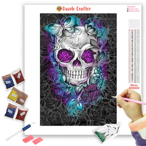 SKULL BUTTERFLY Diamond Painting Kit - DAZZLE CRAFTER