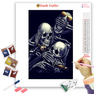 SKULLS LAUGHING AWAY Diamond Painting Kit - DAZZLE CRAFTER