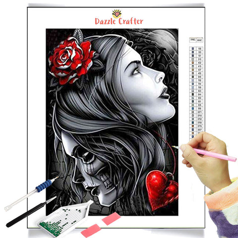 Image of REVEALING THE OTHER FACE  Diamond Painting Kit