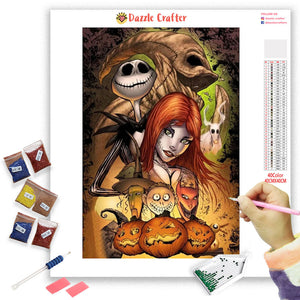 HALLOWEEN SKULL COUPLE Diamond Painting Kit - DAZZLE CRAFTER