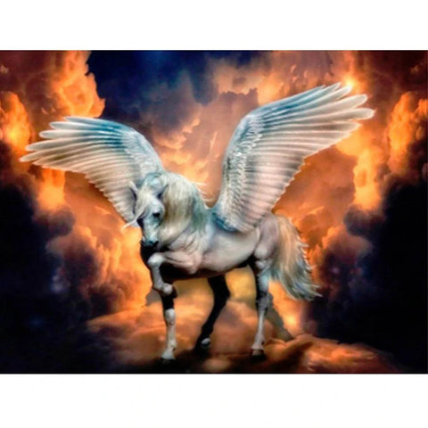 Image of PHOENIX UNICORN IN BLAZING FIRE Diamond Painting Kit