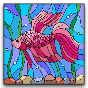 PRETTY PINK FISH Diamond Painting Kit - DAZZLE CRAFTER