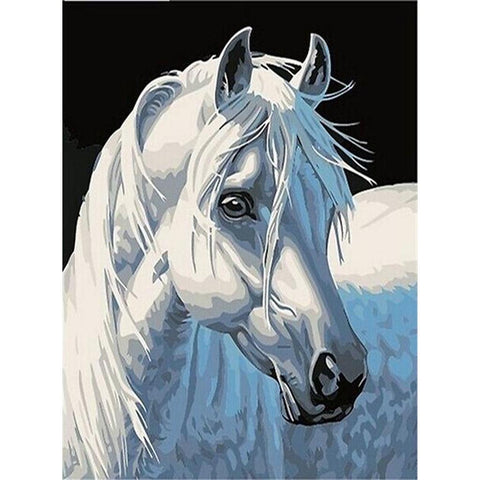 Image of MAJESTIC WHITE HORSE Diamond Painting Kit