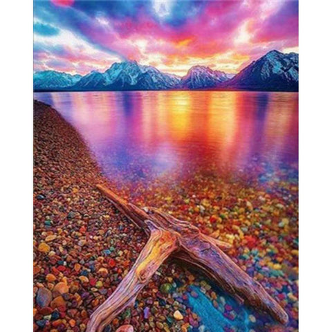 PURPLE SUNSET Diamond Painting Kit