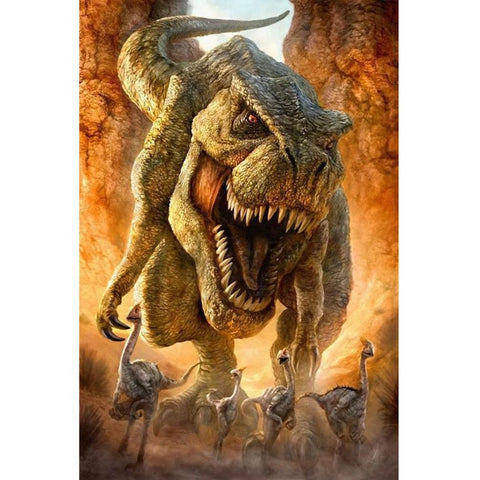 SCARY DINOSAUR Diamond Painting Kit