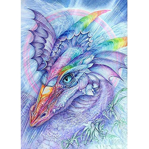 PURPLE RAINBOW DINOSAUR Diamond Painting Kit