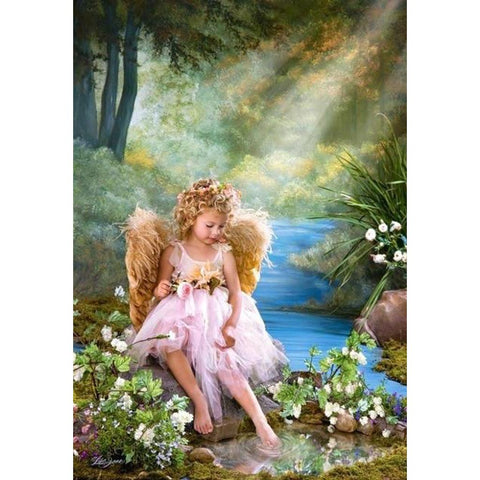 DAISY FLOWER ANGEL Diamond Painting Kit