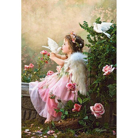 ANGEL WITH WHITE DOVES Diamond Painting Kit