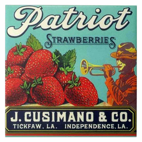 Image of PATRIOT STRAWBERRIES VINTAGE Diamond Painting Kit