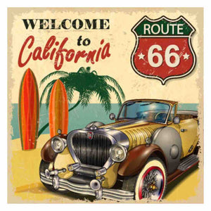 ROUTE66 TO CALIFORNIA VINTAGE Diamond Painting Kit