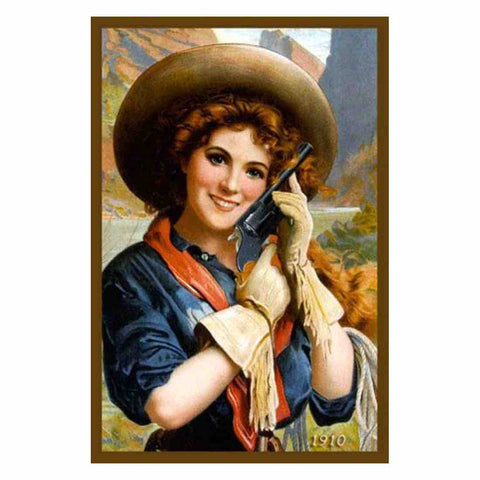 Image of TEXAS GIRL VINTAGE Diamond Painting Kit