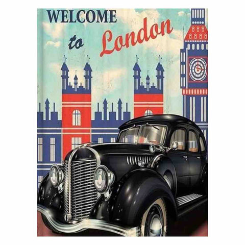 Image of TRAVEL TO LONDON VINTAGE Diamond Painting Kit