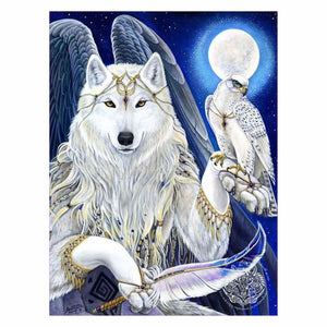QUEEN WHITE WOLF Diamond Painting Kit