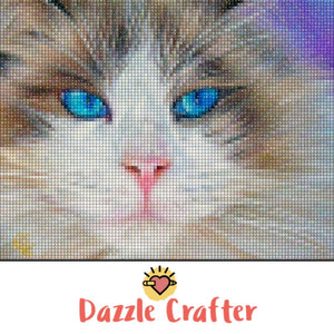BLUE EYED CAT  Diamond Painting Kit - DAZZLE CRAFTER