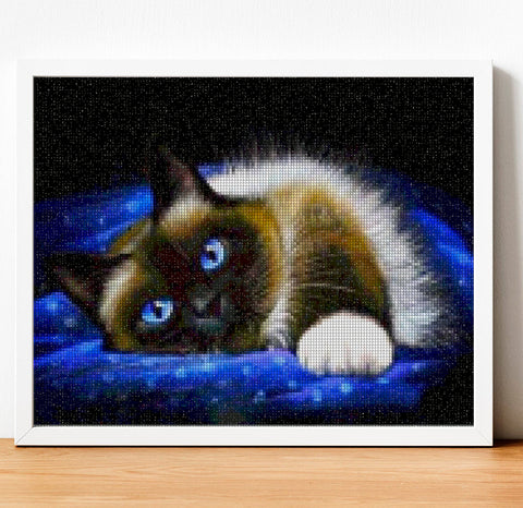 Image of SERENE BEAUTY CAT Diamond Painting Kit - DAZZLE CRAFTER