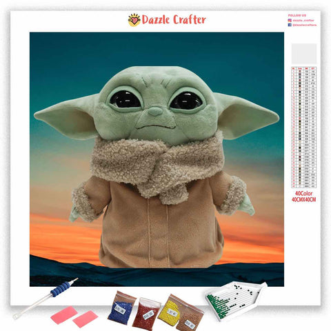 BABY YODA IN SPACE Diamond Painting Kit
