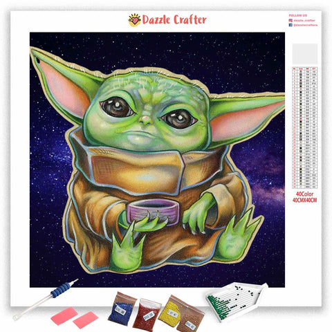 SITTING BABY YODA  Diamond Painting Kit