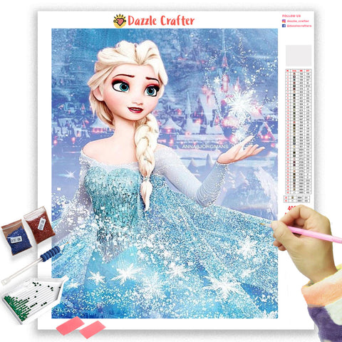 Image of ELSA DISNEY PRINCESS Diamond Painting Kit