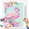 PASTEL PINK FLAMINGO Diamond Painting Kit