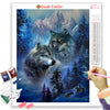 WOLF PAIR IN THE MOUNTAINS Diamond Painting Kit