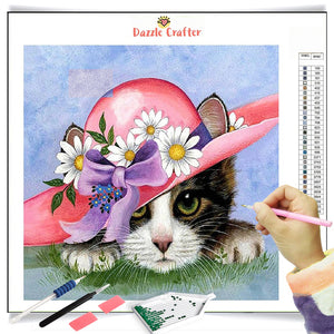 MY FAIR LADY CAT Diamond Painting Kit - DAZZLE CRAFTER