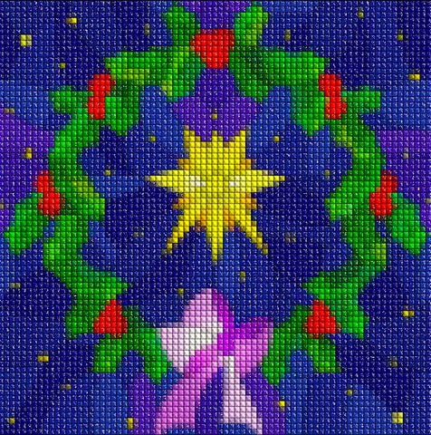 Image of CHRISTMAS WREATH   Diamond Painting Kit - DAZZLE CRAFTER
