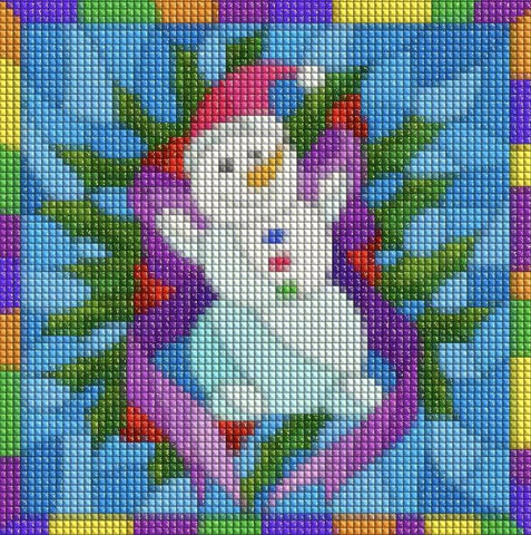 HAPPY SNOWMAN Diamond Painting Kit - DAZZLE CRAFTER