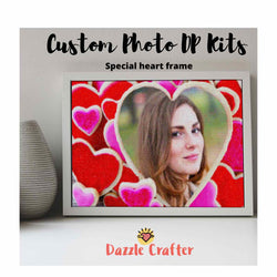 CUSTOM PHOTO WITH SPECIAL HEART FRAME - MAKE YOUR OWN DIAMOND PAINTING