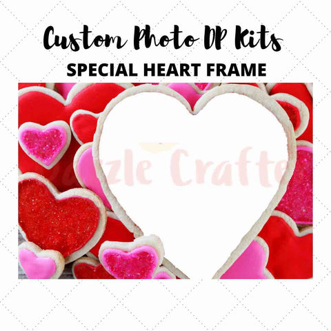 Image of CUSTOM PHOTO WITH SPECIAL HEART FRAME - MAKE YOUR OWN DIAMOND PAINTING