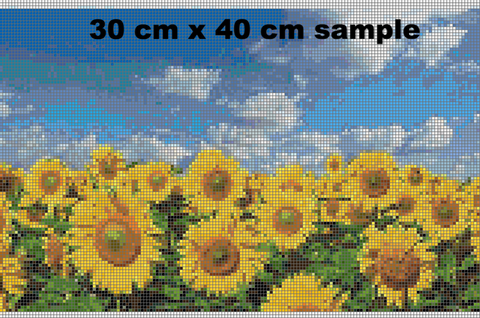 Image of SUNFLOWER FIELD Diamond Painting Kit - DAZZLE CRAFTER