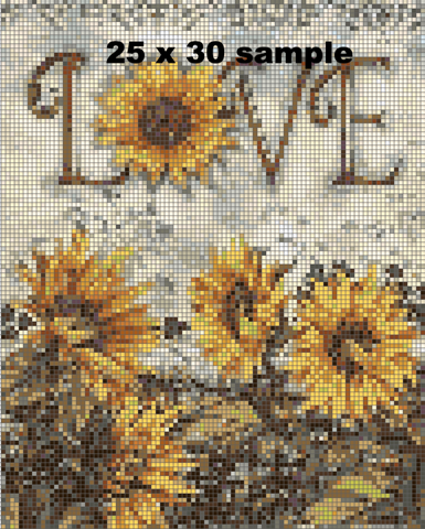 Image of Sunflower Love Diamond Painting Kit - DAZZLE CRAFTER