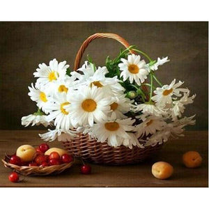 WHITE DAISIES Diamond Painting Kit