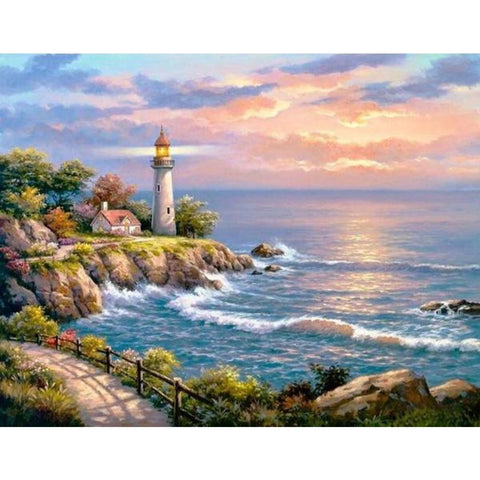 LIGHTHOUSE AND THE SEA Diamond Painting Kit
