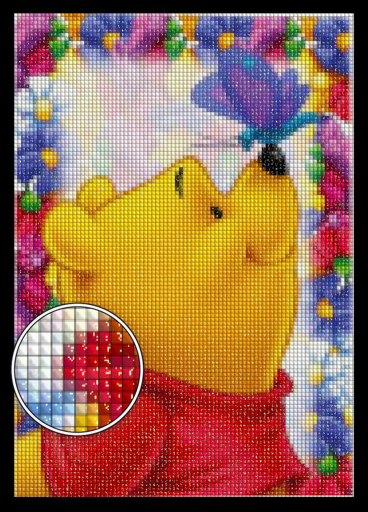 Pooh Bear Diamond Painting Kit Dazzle Crafter