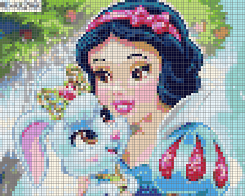 Image of PRINCESS AND BUNNY  Diamond Painting Kit - DAZZLE CRAFTER