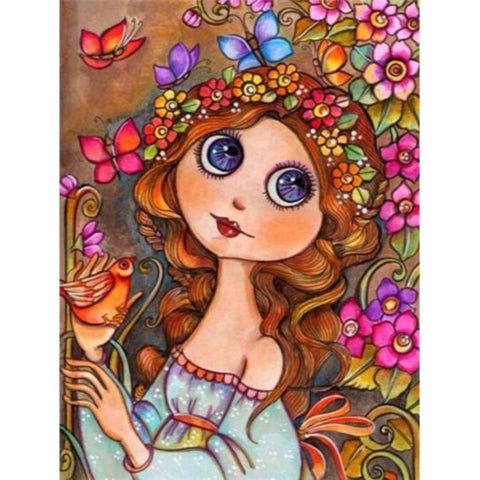 PRETTY BUTTERFLY GIRL Diamond Painting Kit