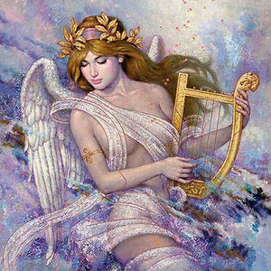 FAIRY WITH THE HARP Diamond Painting Kit - DAZZLE CRAFTER
