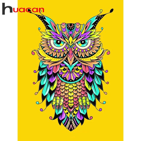 Image of MULTICOLOR OWL Diamond Painting Kit - DAZZLE CRAFTER