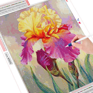 YELLOW & PURPLE IRIS Diamond Painting Kit - DAZZLE CRAFTER