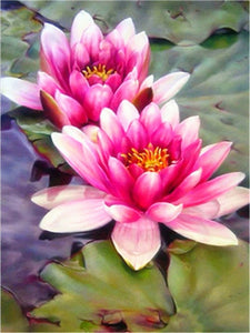 TWIN LOTUS Diamond Painting Kit - DAZZLE CRAFTER