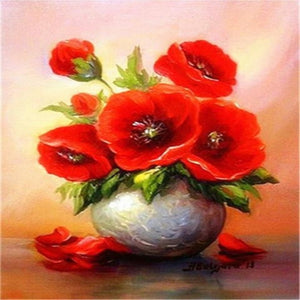 RED POPPIES Diamond Painting Kit - DAZZLE CRAFTER
