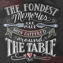 CHALKBOARD QUOTES - FONDEST MEMORIES Diamond Painting Kit - DAZZLE CRAFTER