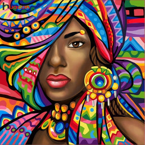 GIRL FROM AFRICA Diamond Painting Kit - DAZZLE CRAFTER