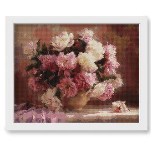 PINK PEONY Diamond Painting Kit - DAZZLE CRAFTER