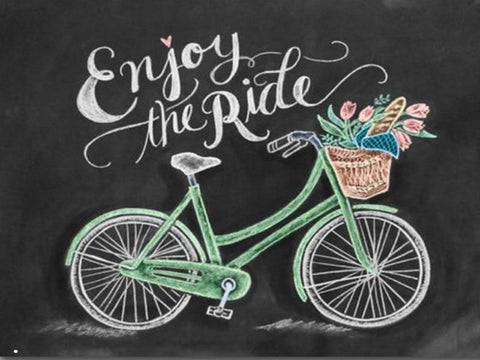 Image of ENJOY THE RIDE Chalkboard Diamond Painting Kit - DAZZLE CRAFTER