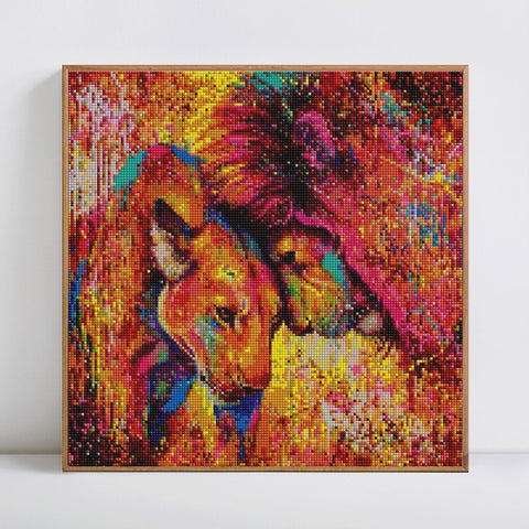 LION KING LOVE Diamond Painting Kit - DAZZLE CRAFTER