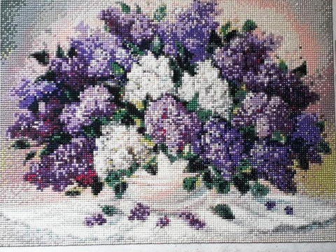Image of PURPLE LAVENDER BOUQUET Diamond Painting Kit - DAZZLE CRAFTER