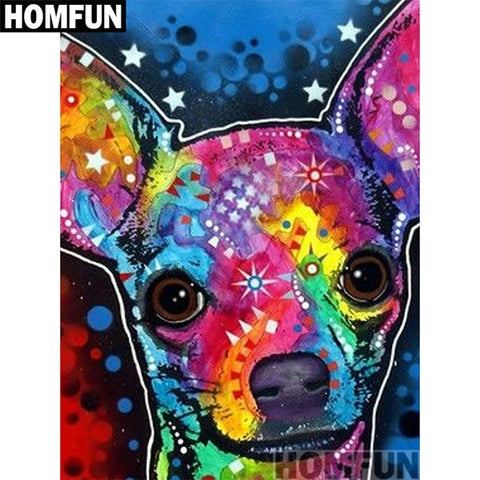 COLORFUL DOG 2 Diamond Painting Kit - DAZZLE CRAFTER