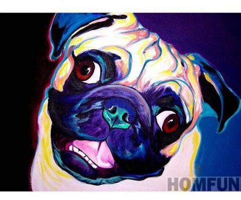 COLORFUL PUG Diamond Painting Kit - DAZZLE CRAFTER