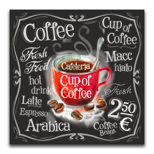 Coffee Cafe Poster Diamond Painting Kit - DAZZLE CRAFTER